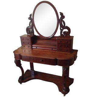 1870's Duchess Victorian Mahogany Dressing Table