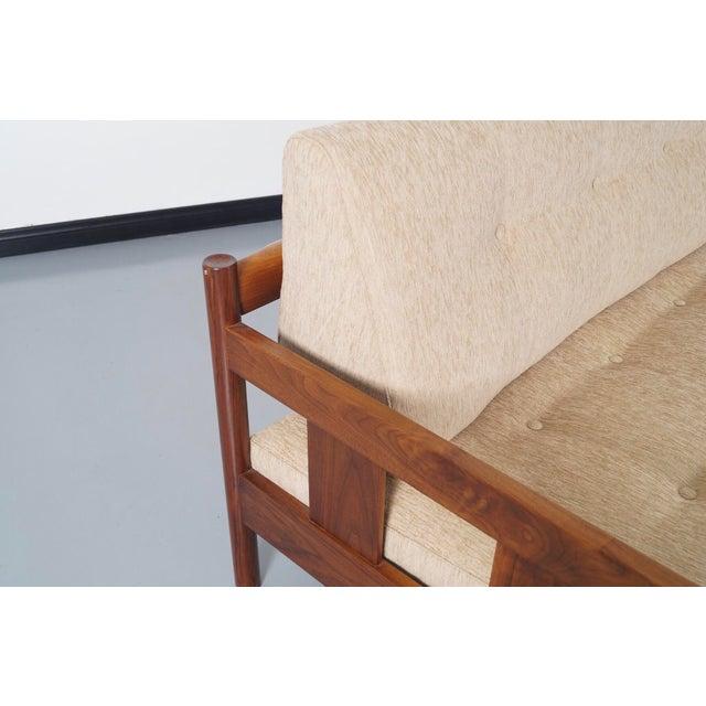 Danish Modern White Sofa - Image 5 of 5
