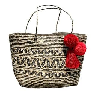 "Brunna ""Borneo Carmen"" Woven Anjat Tote Basket"