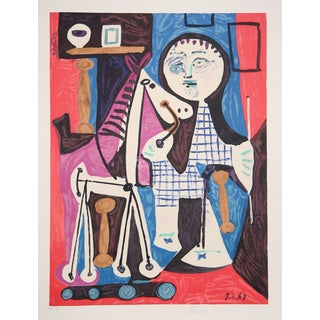 """""""Enfant avec Cheval"""" Lithograph by Pablo Picasso"""