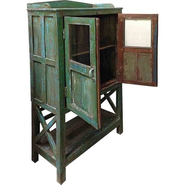 Image of Green Kitchen Cabinet