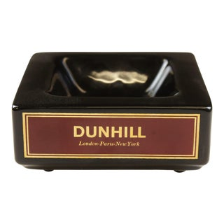 Dunhill Square Black Ashtray