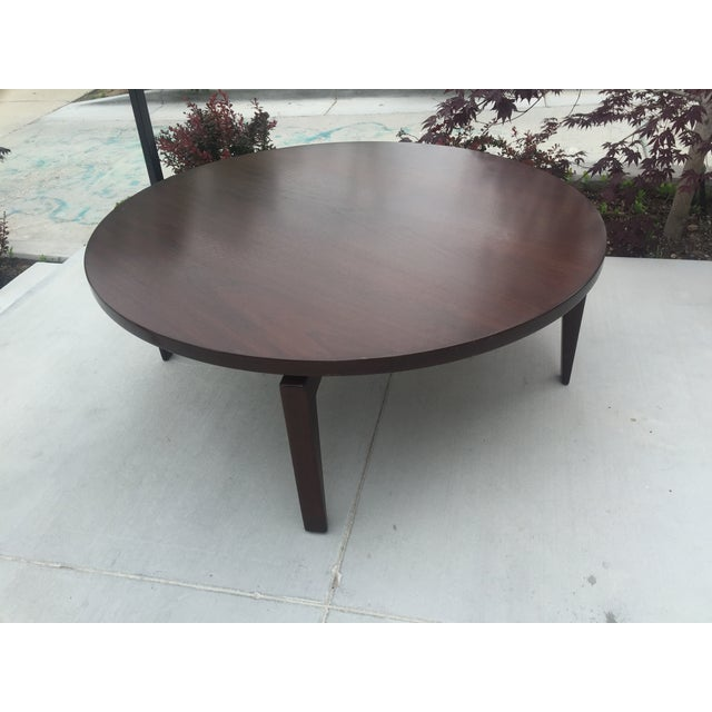 Jens Risom Round Coffee Table With Lazy Susan Chairish