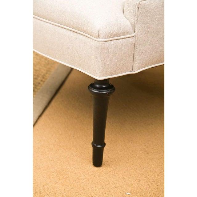 Mid-Century Slipper Chairs, Pair - Image 7 of 8