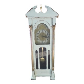 Miniature White Painted Grandfather Clock