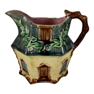 Warrilow & Cope English Majolica Country Cottage Pitcher