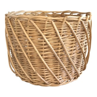 Vintage Boho Chic Wicker Planter