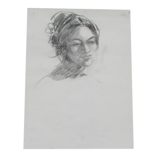 Charcoal Portrait of a Woman