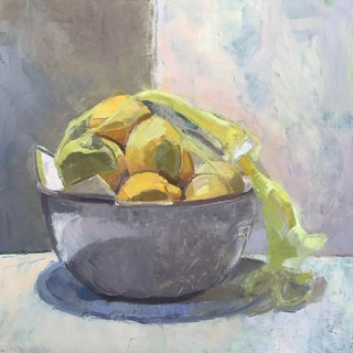 Lemons in a Bowl - 16x16 Original Oil Painting