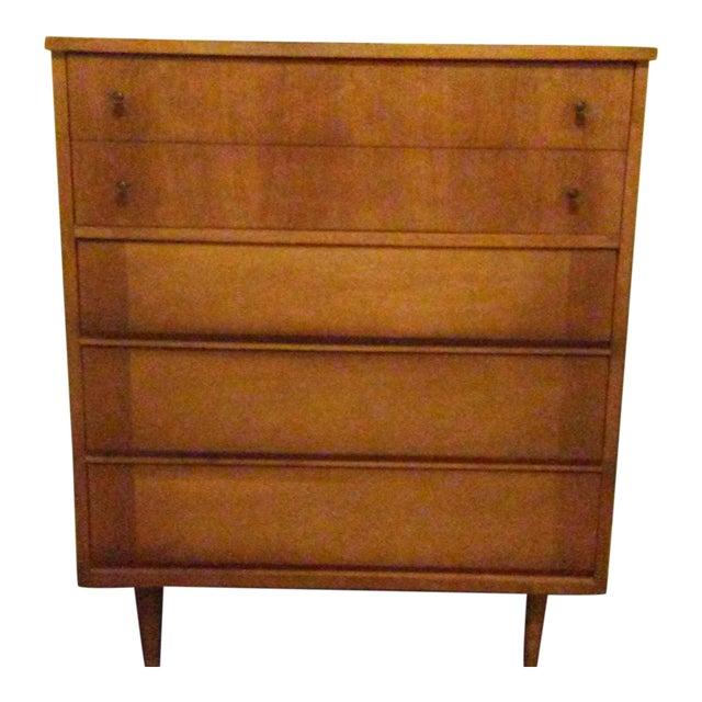 Mid-Century Modern Wooden Dresser - Image 1 of 5