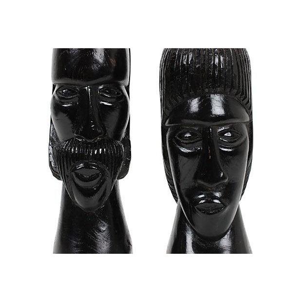Jamaican Couple Modern Wood Sculptures - Image 3 of 4