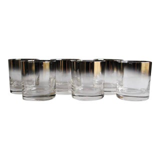 Vintage Silver Fade Lowball Glasses - Set of 6