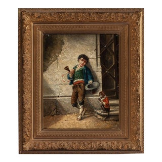 Pair of 19th Century Italian School Oil Paintings, Signed A. Leonard