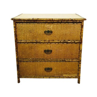 Antique Tortoise Bamboo Dresser