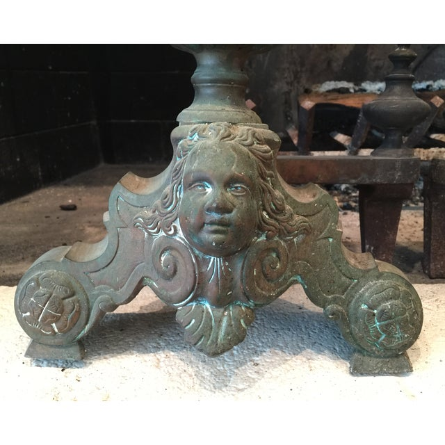 Image of French Antique Brass Andirons