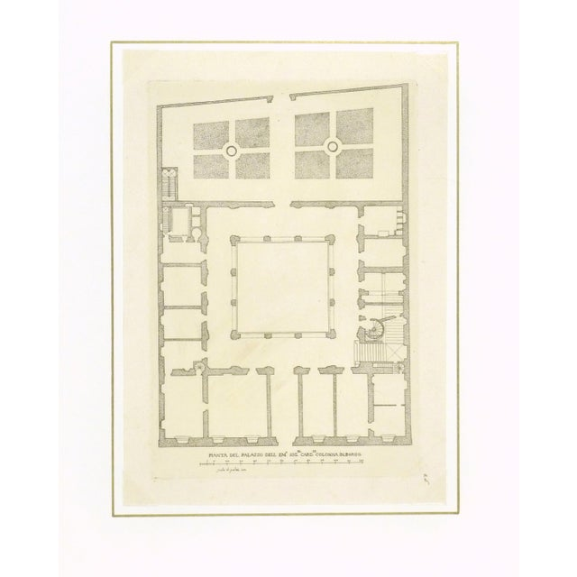 Antique Italian Architectural Engraving, 1650 - Image 3 of 3