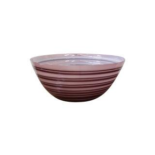Large Signed Barbini Murano Glass Italian Bowl