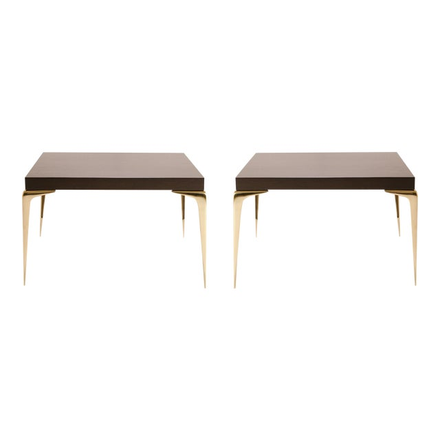 Customizable Colette Occasional Tables in Ebony by Montage, Pair - Image 1 of 7