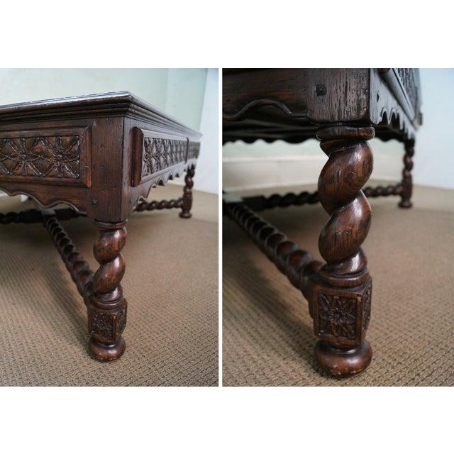 Image of Jonathan Charles Tudor Oak Coffee Table