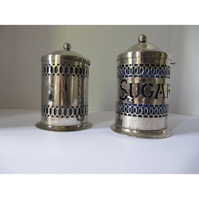 Vintage Silver-Plate Canisters- A Pair - Image 2 of 9