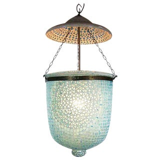 Blue Mosaic Bucket Lantern