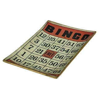 1950's Bingo Bar Game Tray