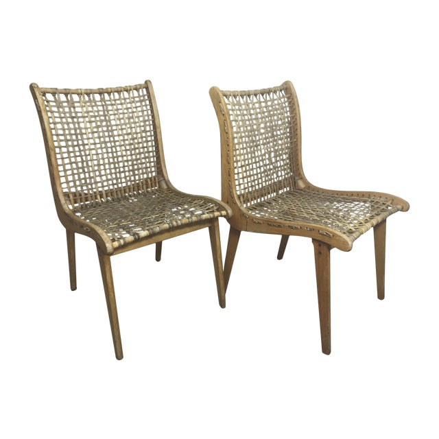 Tubbs Oak & Rawhide Side Chairs - A Pair - Image 1 of 11