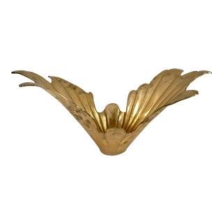 Vintage Art Deco Style Brass Bowl