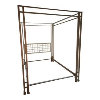 Cream Metal Canopy Bedframe