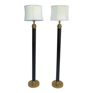 French Mid Century Modern Floor Lamps/Pair
