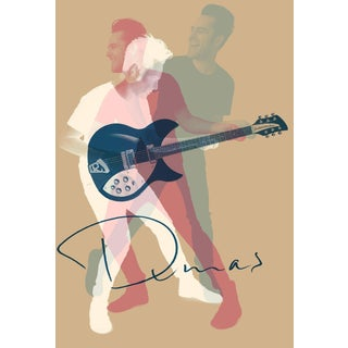 Minimalist Music Poster, Dumas Guitarist