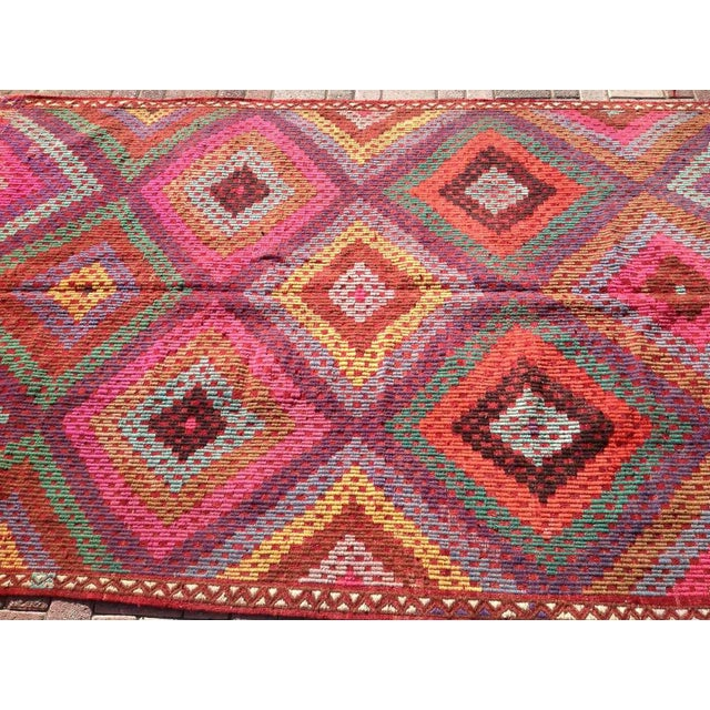 Vintage Turkish Kilim Rug - 5′11″ × 9′8″ - Image 4 of 8