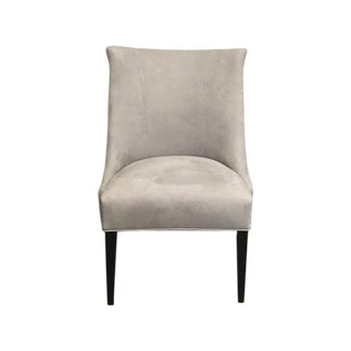 Vintage Chair With Donghia Gray Ultrasuede