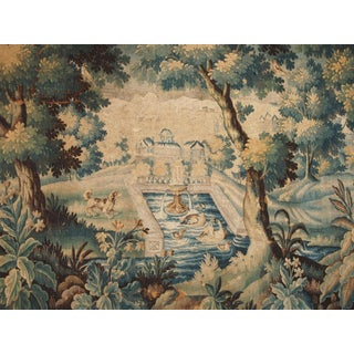 Verdure Tapestry with a Chateau and Fountain