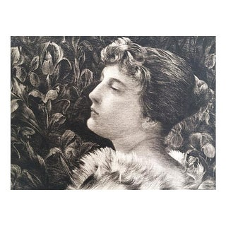 Etching Portrait of Lucille by William St John Harper 1888
