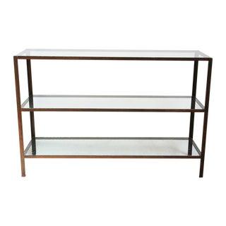 Mesco Wire Glass & Iron Shelf