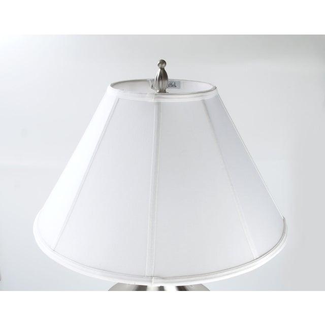 Stiffel Metal Table Lamp & Cotton Shade - Image 8 of 11