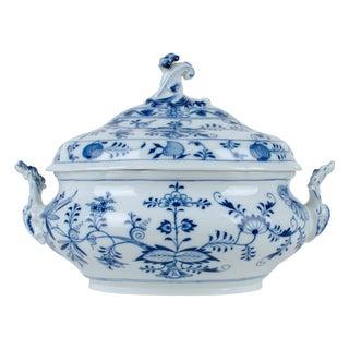 Meissen Blue Onion Soup Tureen