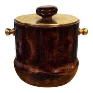 Italian Mid-Century Aldo Tura Goatskin Ice Bucket