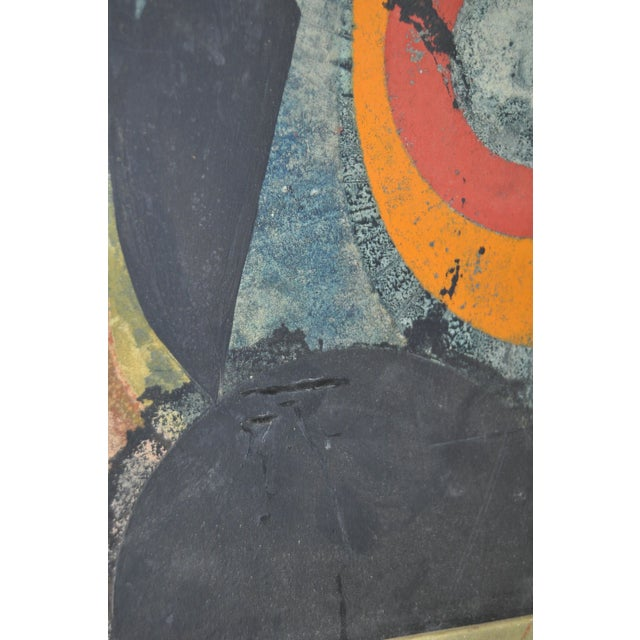 Serge Diakonoff Abstract Mixed Media Painting - Image 5 of 5