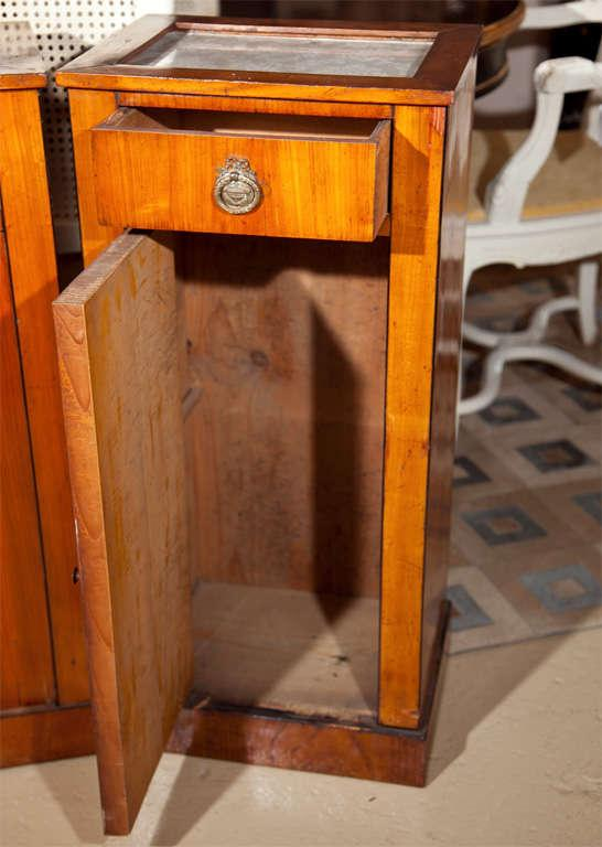 Antique Biedermeier Style Nightstands   A Pair   Image 5 Of 8