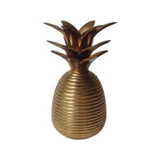 Vintage Brass Pineapple