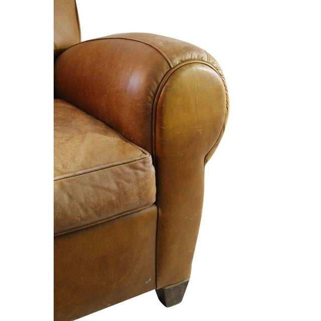 Camel Leather Club Chair - Image 3 of 3