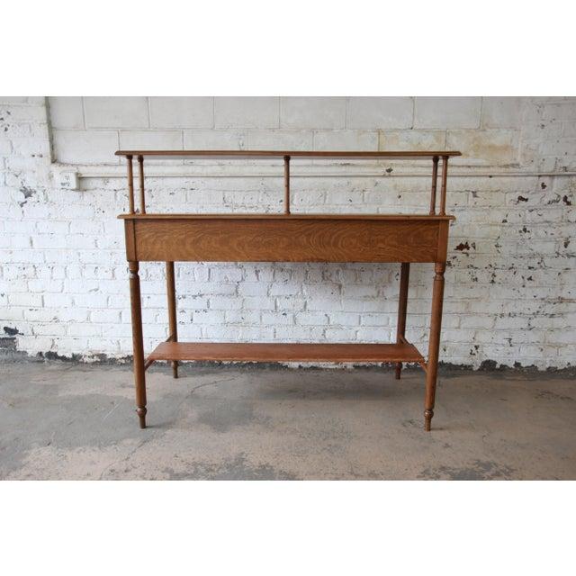 Antique Quarter Sawn Oak Railroad Standing Desk - Image 9 of 11 - Antique Quarter Sawn Oak Railroad Standing Desk Chairish