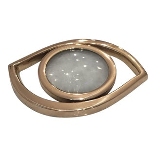 "Brass 'Evil Eye"" Magnifying Glass Decor Object"