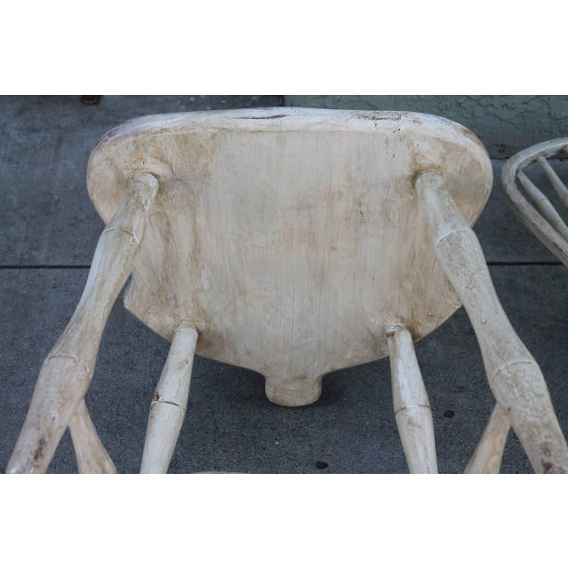 Pair of 19th Century White Painted Windsor Chairs - Image 8 of 8