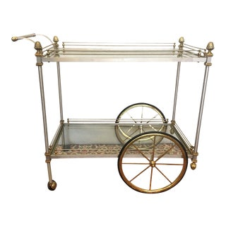 Vintage Brass & Steel Bar Cart