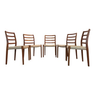Jl Moller Model 85 Teak Dining Chairs - Set of 5