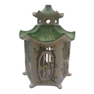 Italian Ceramic Pagoda Birdhouse