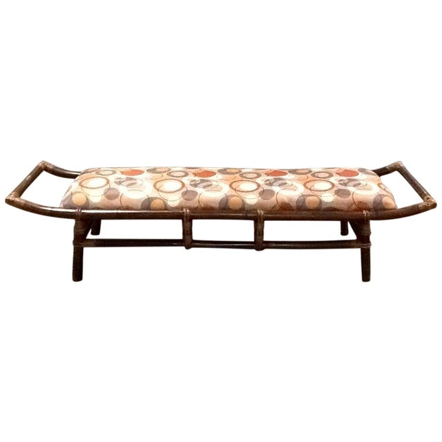 Bamboo & Rattan Bench - Image 1 of 5